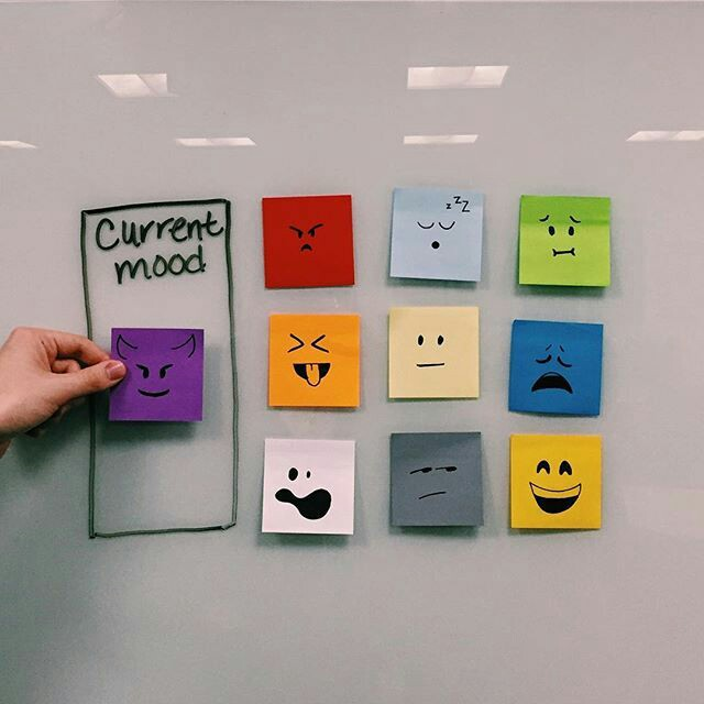 Room decor ideas with sticky notes