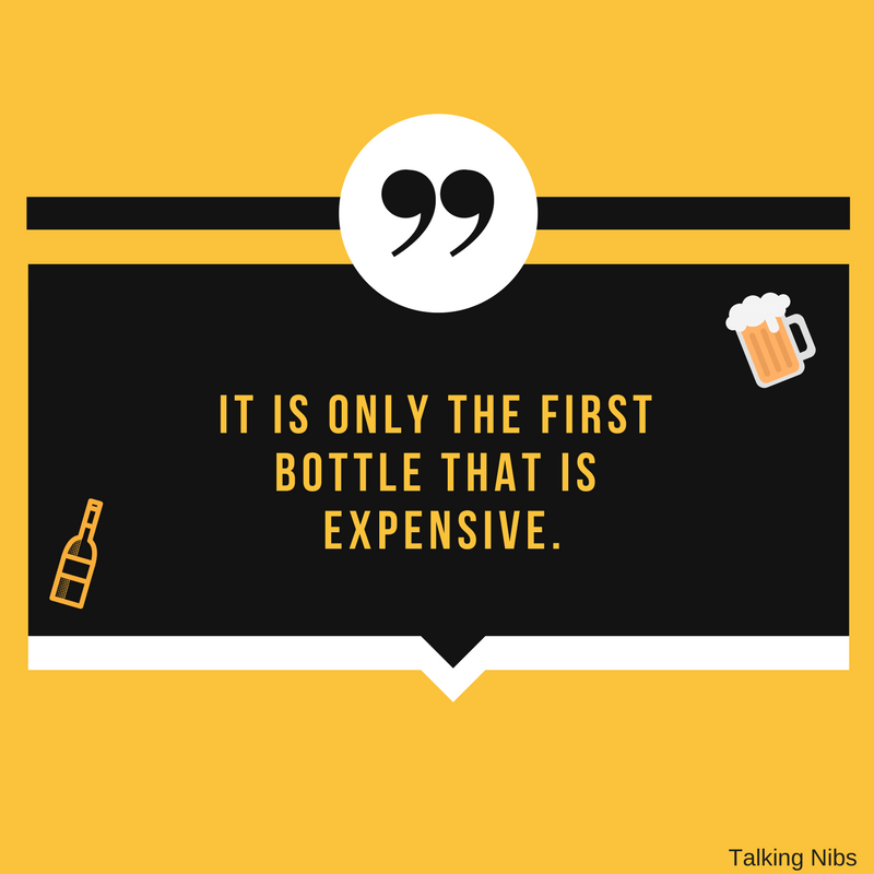 It is only the first bottle that is expensive.