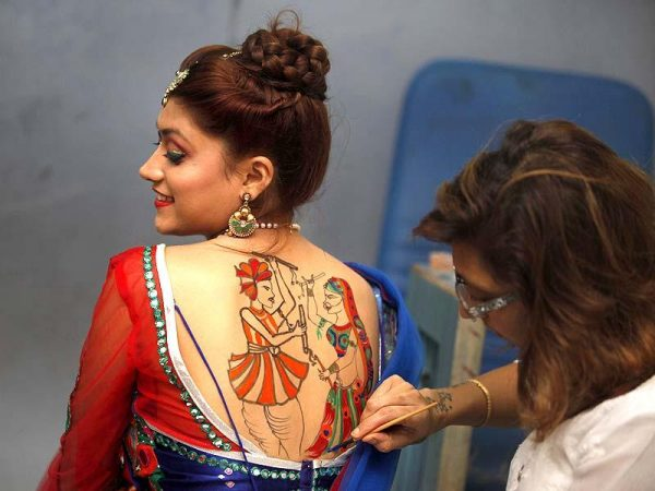 Garba tattoo for Navratri