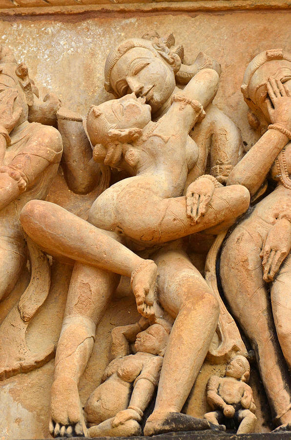 Erotic carvings at Khajuraho