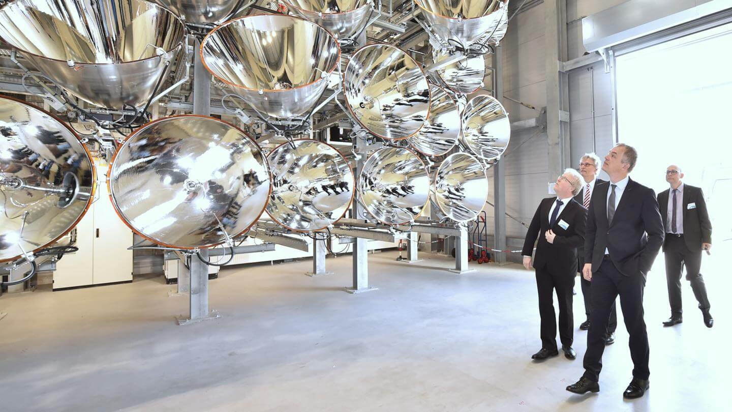 Spectators surprised to see the gigantic Artificial Sun Facility