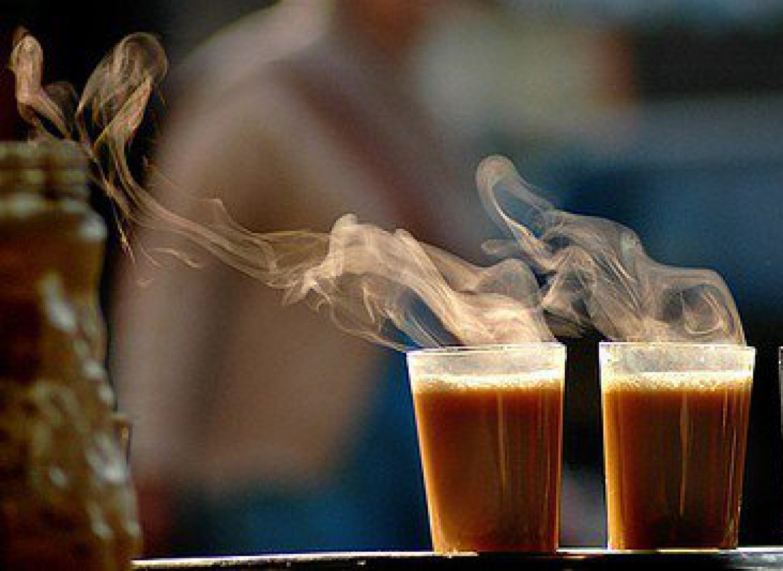 Where should you have the best tea in the morning in Jaipur?