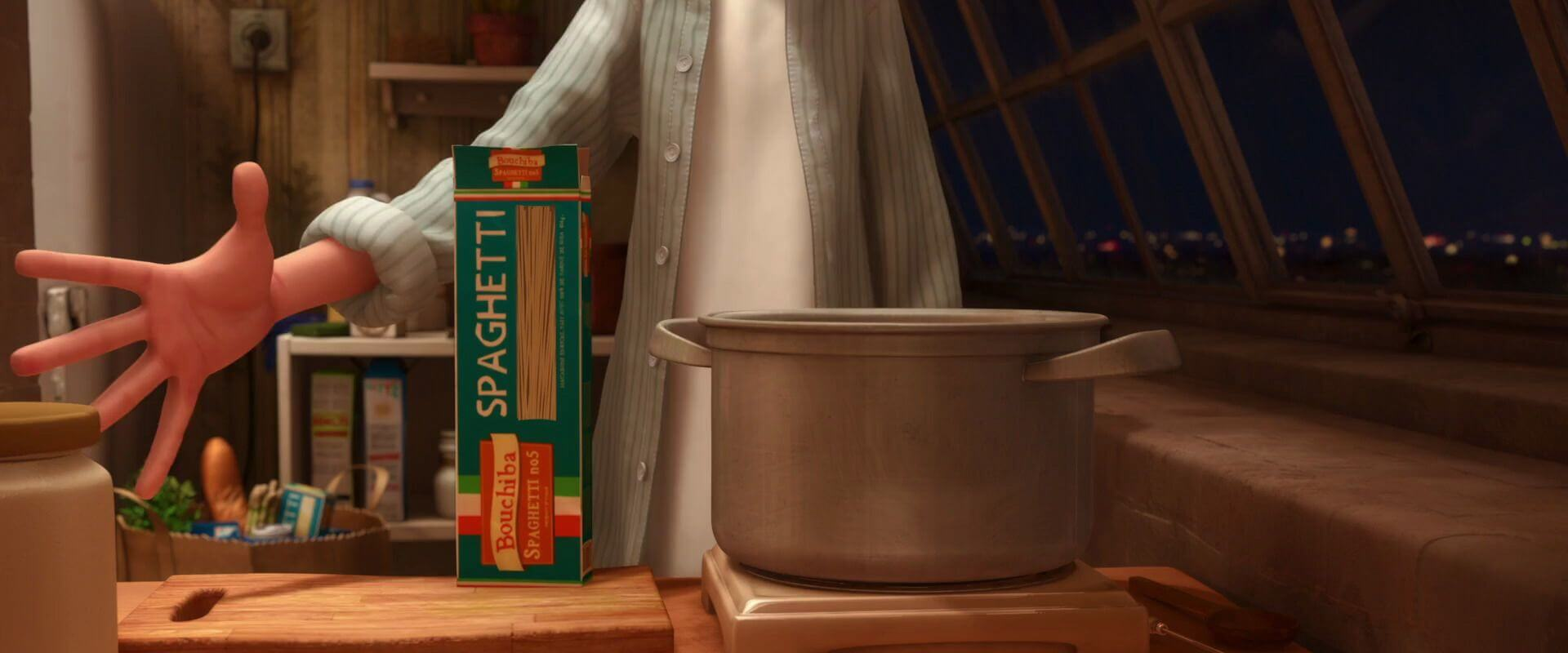 Movie Ratatouille Facts- Spaghetti brand